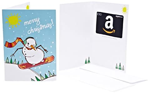 Amazon.co.uk Gift Card - In a Greeting Card - £50 (Christmas Snowman)