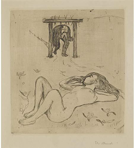 Berkin Arts Edvard Munch Giclée Leinwand Prints Gemälde Poster Wohnkultur Reproduktion(Unter dem Joch) #XFB -