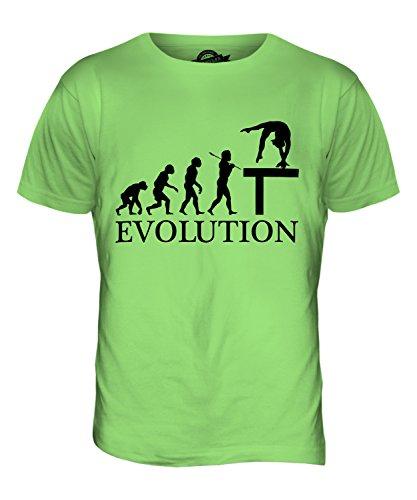 CandyMix Gymnastik Schwebebalken Evolution Des Menschen Herren T Shirt Limettengrün