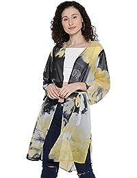 12fe763fa0 I AM FOR YOU Printed Polyester Three-Quarter Sleeves Shrug for Women   Girls