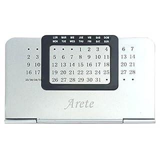 Ewiger Kalender mit eingraviertem Namen: Arete (Vorname/Zuname/Spitzname)