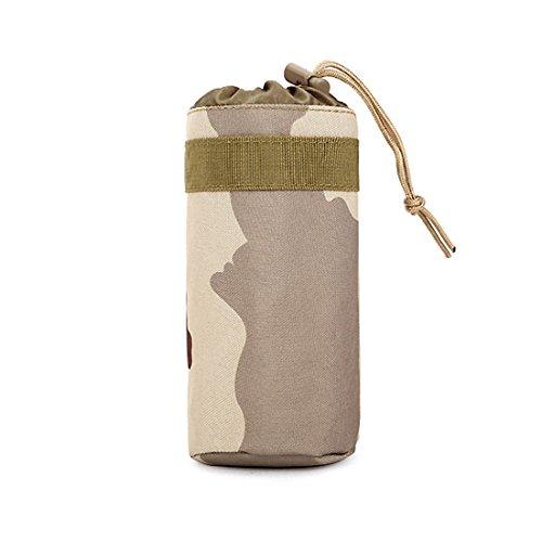 ruifu Unisex kleine Nylon Reisen Camping Wasser Flasche Tasche Outdoor Sports Tactical Tasche Zubehör-Sets Three Sand