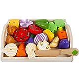 Cocina juguete Madera verduras con imán, 24 x 19 cm, 22 piezas,...