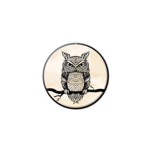 Eule auf Ast–Antik Rustikal Tribal Vogel Metall Revers Hat Shirt Handtasche Pin Krawattennadel Pinback