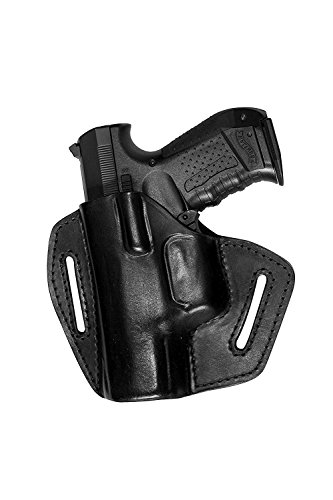 VlaMiTex UXLi Pistolen Leder Schnellziehholster für Walther P99 PPQ PK380 Umarex CP99 Linkshänder -