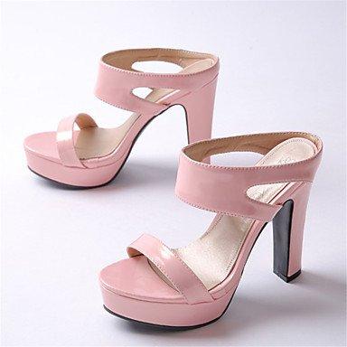 CH&TOU Da donna-Sandali-Formale Casual Serata e festa-Plateau-Quadrato Plateau-Vernice-Verde Rosa Argento pink