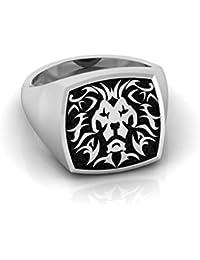 Simba Ring, Ring For Men, Silver Caiman 92.5 Sterling Silver Ring For Men, Signet Ring