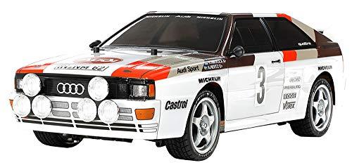 TAMIYA 58667 58667-1:10 RC Audi Quattro Rally A2 (TT-02), ferngesteuertes Auto/Fahrzeug, Modellbau, Bausatz, Hobby, Zusammenbauen, weiß