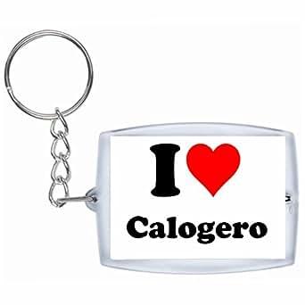 Porte-clés I Love Calogero en Blanc| grande idée de cadeau pour toute occasion!