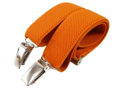 Olata bretelle elasticizzata per bambini 5-12 anni, y' clip design - arancione
