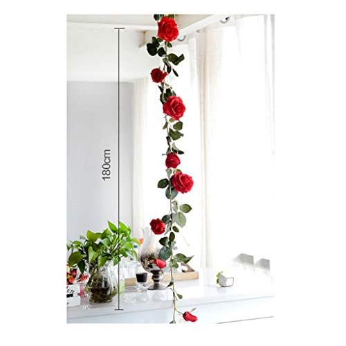 (Haodan electronics Set von 4 70,8 Zoll gefälschte Rose Vine künstliche Rose Rattan Kunststoff gefälschte Rebe Hotel Party Hochzeit künstliche Blume (Color : Blue))