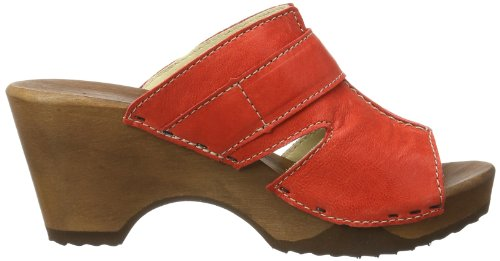 Woody Mary Damen Clogs Rot (Rot)