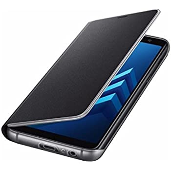 MP4 Telecom Coque Etui Housse pour Samsung Galaxy A8 2018 Clear View Etui à Rabat Cover Flip