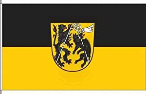 Königsbanner Hochformatflagge Landkreis Bamberg - 150 x 500cm - Flagge und Fahne