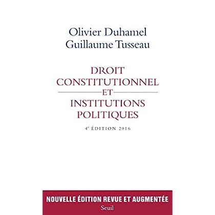 Droit constitutionnel et institutions politiques (H.C. essais)