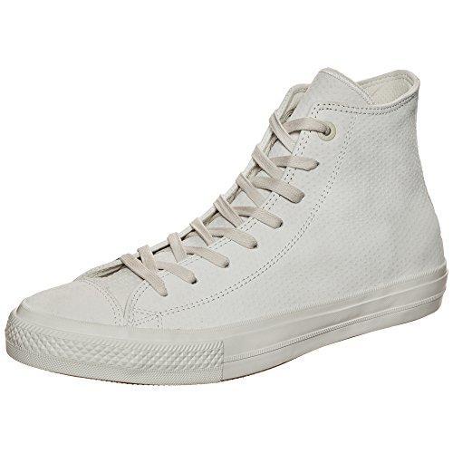 Converse in Pelle Sneaker Chuck Taylor II CT AS II Hi 155763C Bianco, Beige Chiaro, 11.5 US - 46 EU