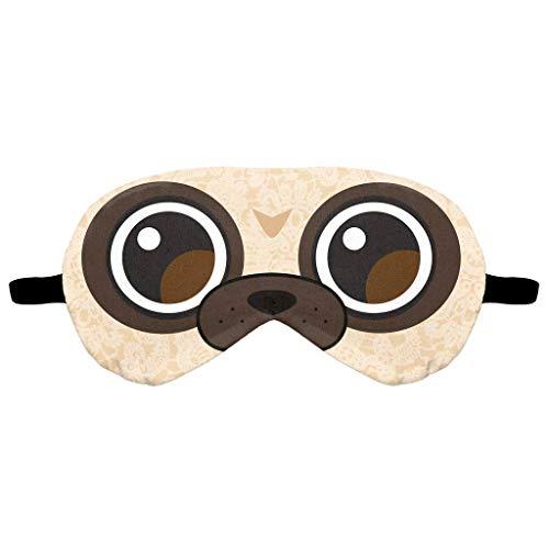 Dorical Schlaf Augenmaske Augenmaske Weiche Schlafmaske mit Plüschtiere Muster Nachtmaske aus Baumwolle Plüsch Karikatur Augenabdeckung Schlafbrille mit Elastischem Band Augen Maske