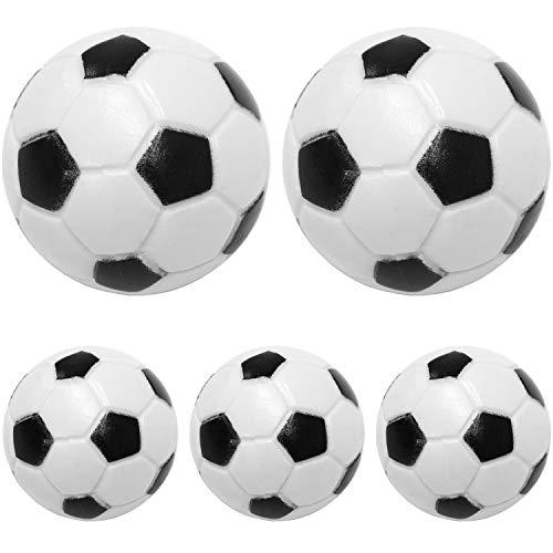 Maxstore Kicker Bälle aus ABS, 5 Stück, Farbe: schwarz/weiß (Klassische Fußball-Optik), hart und schnell, Durchmesser 31mm, Tischfussball Kickerbälle Ball