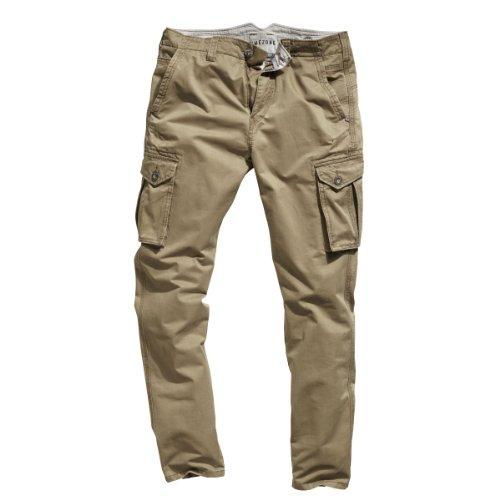Timezone Herren Hose Normaler Bund Corbin cargo pants 26-0296, Gr. 31/32, Braun (antique bronze 6151) (Cargo-wolle Hosen)
