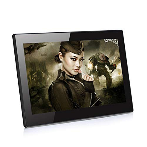 TONGTONG 14 Zoll Digital Photo Frame HD IPS Screen 1920 * 1080 Electronic Photo Frame Support Clock Musik Video MP3 MP4 Movie Player - Frame Photo Digital Zoll 14