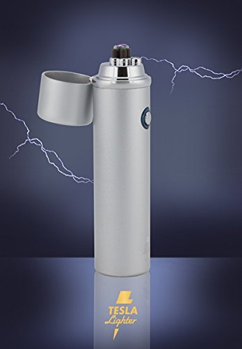 TESLA Lighter T02 Lichtbogen Feuerzeug, Silber