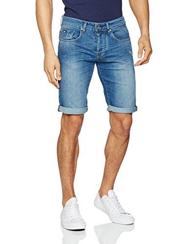 Gas Jeans Herren Anders Short Slim Jeans, Blau Wk22, 42 (Herstellergröße: 32) -