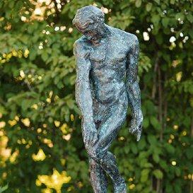 Gartentraum Bronze Skulptur Adam – Original von Rodin, Bronze