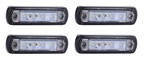 Preisvergleich Produktbild 4x 12V 24V Wei LED vorne Marker Outline E-Prfzeichen Kelsa Bar Bull Bar Lichter Truck Wohnmobil SUV Camper Caravan
