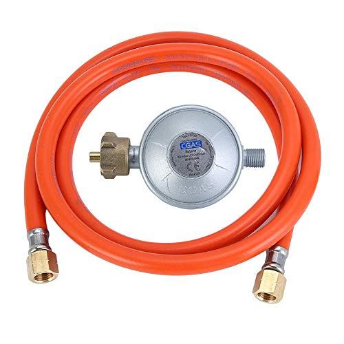 Eduton Propan Druckregler mit 150cm Gasschlauch Durable 30mbar Druckminderer -