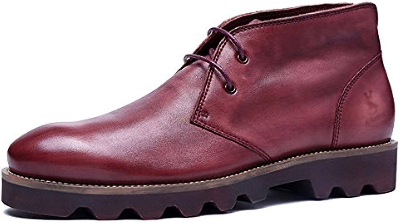 MERRYHE Botas Para Hombre Martin Boots Botines De Cuero Real Zapatos De Trabajo Ocasionales Regalos Para Papá... -