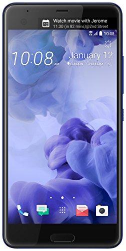HTC U Ultra GSM Factory Unlocked Single Sim (USA Garantie) - LTE Bands B1/B2/B3/B4/B5/B7/B8/B12/B17 B20/B28 TDD: Bänder B38/B39/B40/B41 W/2 CA, 3 CA (Saphir Blau)