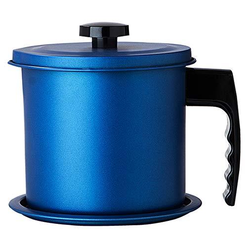 OnePine 1300ml Olla de Colador de Aceite Filtro Aceite Oliva Cocina con 304 Acero Inoxidable Malla Fina...