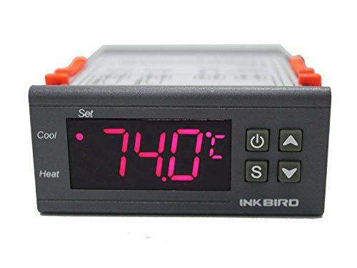 Inkbird All Purpose zwei Stufen 220 V Digitaler Temperatur Controller Celsius und Fahrenheit-Thermostat mit 2 Sensor RELAIS ITC1000