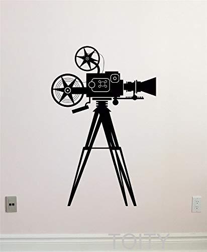 wandaufkleber 3d Wandtattoo Wohnzimmer Film-Kamera-Videokunst-Kino-Heimkino-alter Retro Aufkleber für Wohnzimmer-Kino