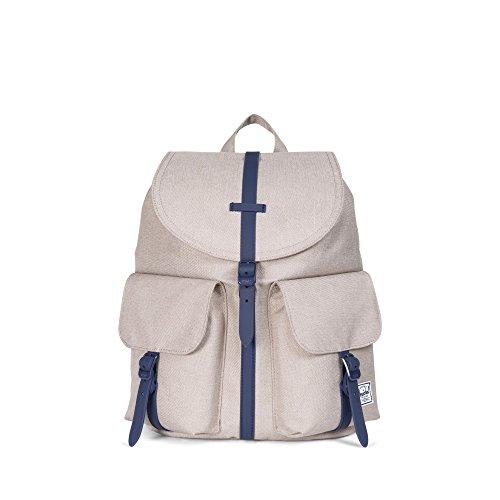 Herschel Dawson X-Small Womens Backpack 34 cm, light khaki crosshatch/peacoat Womens Peacoat