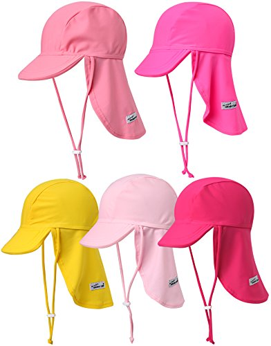 Vaenait Baby Infant & Kids Girls Sun protection Sporty Flap Swim hat UV Flap Cap