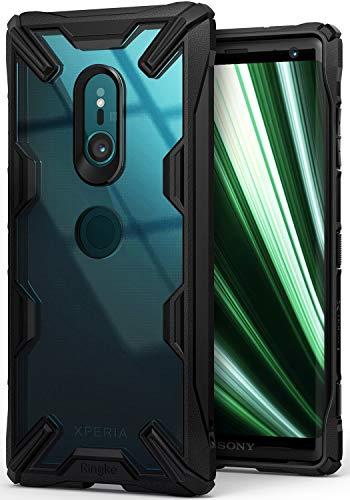 Ringke Fusion-X für Sony Xperia XZ3 Hülle [Schwarz] Transparent PC Hart Rückseite Kratzfest Black TPU Silikon Rahmen Case Schutzhülle Passform Stoßfest Modisch Cover für Xperia XZ 3