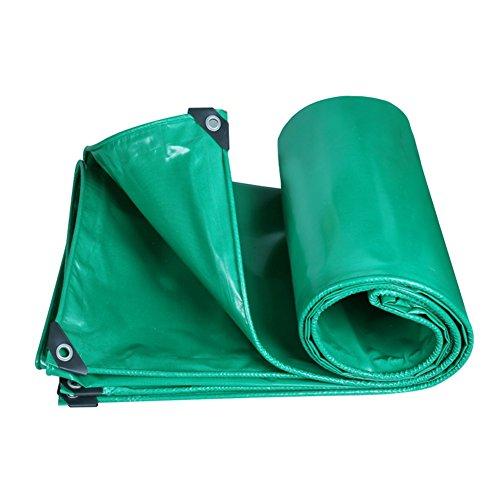 MDBLYJWinddichtes und kaltes Tuch Sonnenschutztuc Regenfeste Tuchplane, LKW-Schutzplane im Freien schattieren staubdichtes windfestes abnutzungsbeständiges Antioxidans (Farbe : Green, größe : 3x5M) -