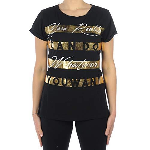 buy online 77251 bef14 Liu Jo Jeans T-Shirt LIUJO Sport T-Shirt MC Lucia Women's Black  T18126/J5003 - Black - S