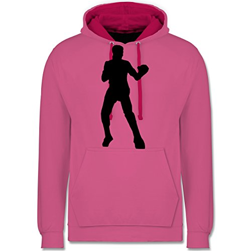 Kampfsport - Boxen - Kontrast Hoodie Rosa/Fuchsia