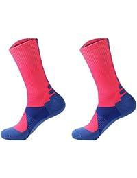 SODIAL(R) 1 Pair Professional Basketball Socks Athletics Socks Outdoor Sports Socks Stocking(white)