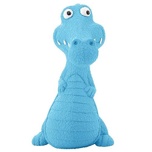 Pssopp Hundespielzeug Hunde Kauen Spielzeug aus Gummi Dinosaurier förmiges Kauspielzeug Welpen Kauspielzeug für große kleine Hunde zum Zähne reinigen und Zahnfleisch massieren(Blau) -