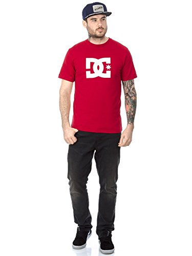 DC T-Shirt Star Schneeweiß Rot