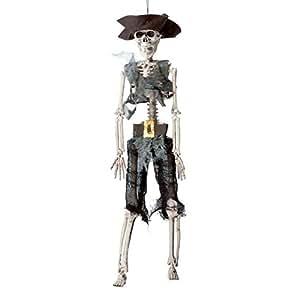 P'TIT CLOWN - 13260 - Squelette - Plastique - Pirate - Taille Unique - 40 Cm