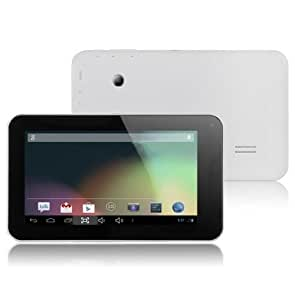 7 pouces HD (1024 * 600 px) Allwinner A20 1.2GHz dual core tablette PC Android 4.2 WIFI Dernières flash player HDMI M009s III (mise à niveau de Allwinner A13 avec plus rapide processeur dual core et d'un écran HD) (noir, blanc)