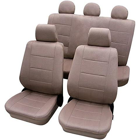 Woltu #254 Autositzbezug /Sitzbezüge /Schonbezüge/Schonbezug /Sitzschoner, Universal passend (Crème AS7314)