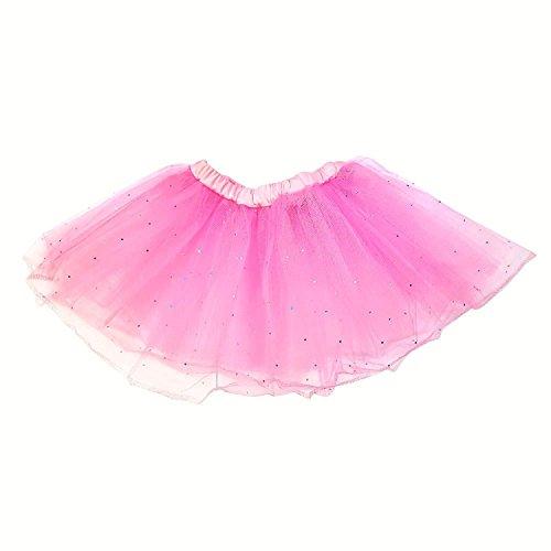 id Prinzessin Layered Tutu Rock Dancewear Pink (Braut Tanz Kostüm)