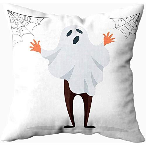 Ducan Lincoln Pillow Case 2PC 18X18,Kissenbezüge,Teenager Männlich In Kostüm Spooky Ghost Feiern Halloween Party Sofa Kissenbezüge,Dekokissenbezüge,Lila Grün (Spooky Ghost Kostüm)