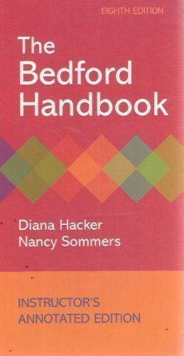 The Bedford Handbook Instructor's Annotat Edition by Hacker, Diana published by Bedford Books (2010)