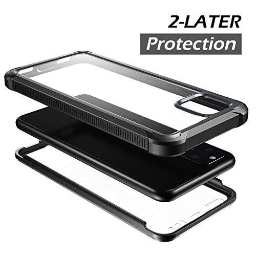 Rosado Protector de Pantalla Incorporado 6.1 Ligero Dexnor Funda para iPhone 11 Carcasa con Parachoques de Silicona de 360 Grados, A Prueba de Golpes Panel Posterior Transparente
